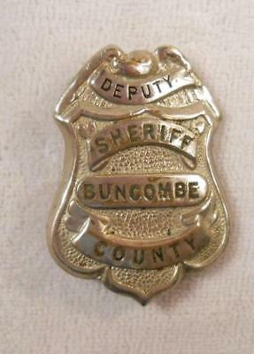 Authentic Obsolete Vintage Police Badge - Deputy Sheriff Buncombe County, NC