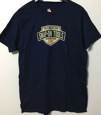 Snap On T Shirt  Blue Celebrating Snap On Tools Since 1920 NWT #TS3 Size L