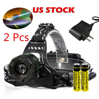 Ultrafire 90000Lumens T6 LED Zoomable Tactical Headlamp HeadLight HeadTorch