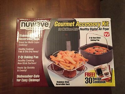 NuWave Brio Gourmet Accessory Kit Accessory Kit for 3 qt Air Fryer New
