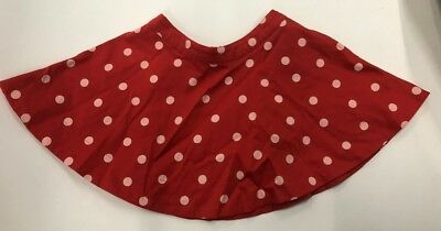 Kate Spade Polka Dot Skirt Size 2yr 2T Red