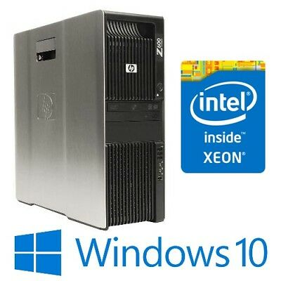 HP Z600 Workstation (Six Core Xeon X5650 x 2) 16G 500G Quadro 2000 Win 10 Pro