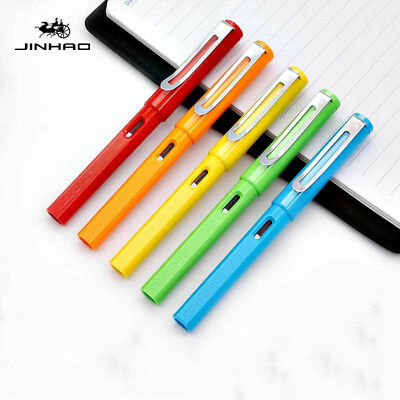 New Jinhao 599-A Smooth Plastic China Fountain Pen Fine Nib 0.5mm Writing Gift