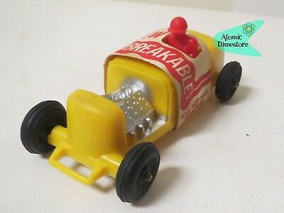 Vtg 1960s Hot Rod Toy Car Mint With Wrap Yellow W Red Driver