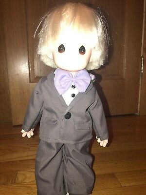 Precious Moments Doll RARE Giant Size Tuxedo Boy New 16 in