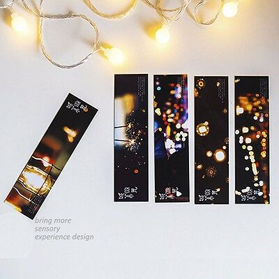 30pc/Box Cool City Shimmer Bookmark Book Mark Magazine Note Label Memo Office