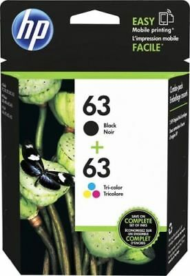 BRAND NEW GENUINE HP #63 Combo Ink Cartridges 63 Black & Color Free Shipping!!