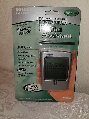 Franklin Rolodex RF-8110 192K Palm Style Touch Screen PDA With Stylus A1