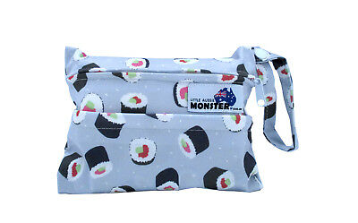 Sushi Rolls Mini Wet Bag - Waterproof Reusable for Mama Cloth & Menstrual NEW!