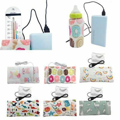 Travel Stroller USB Milk Water Insulated Cotton Bag Baby Nursing Bottle Heater
