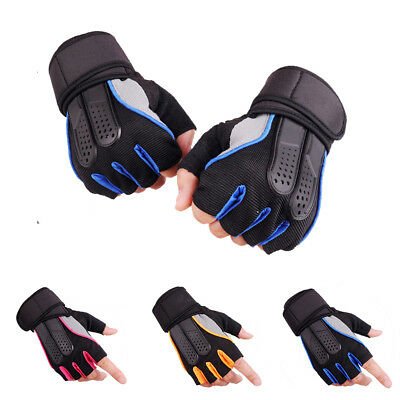 Weight Lifting Gym Training Fitness Half Finger Gloves Sport Wrist Wrap Exercise