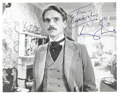"""JEREMY IRONS in SWANN IN LOVE (1984) Hand-signed 8"""" x 10"""" portrait"""