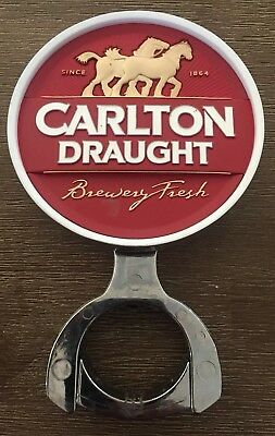 Carlton Draught Badge/Decal With Mounting Bracket And Backing Sticker