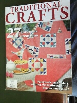 Traditional Crafts Magazine Issue No:4 27 gorgeous creations patchwork/embroider