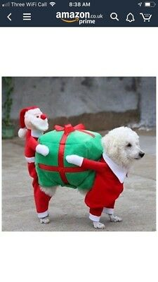 Dog Christmas Party Fancy Dress Costume Outfit