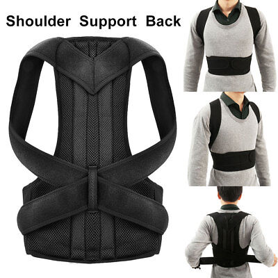 Adjustable Posture Corrector Shoulder Support Back Pain Brace Band Belt S M L