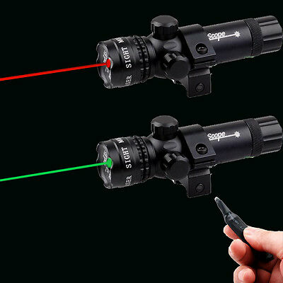 Tactical Red/Green Laser Dot Sight with Rifle Picatinny Mount Remote for Pistol