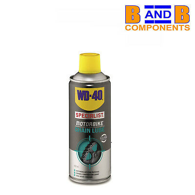 WD40 SPECIALIST MOTORBIKE CHAIN LUBE 400ml SPRAY CAN A1391