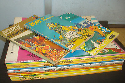Set of 16 Paperback Asterix Books, Mixed condition, Paperbacks