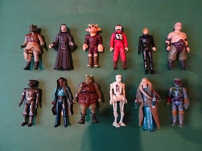 seltene STAR WARS 12 Action Figuren 1977 Kenner Hong Kong 1980 Jedi Ritter TOP