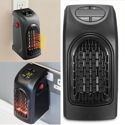 400W 220-240V Mini Furnace Portable Plug-in Electric Wall-outlet Space Heater