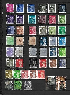 1971 Qeii Northern Ireland Excellent Selection Of 46 Vfu Different Stamps