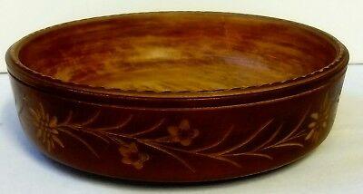 Black Forest Hand Carved Fruit Bowl By Walter Stahli, Brienz Switzerland.