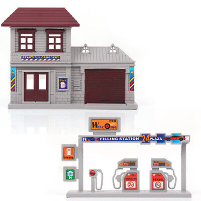 HO Scale Gas Station Building 1:87 Gauge House Train Layout High Quality New