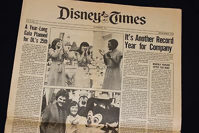 1979 Walt Disney Times Newspaper Disneyland 25th Anniversary EPCOT Archives WDP