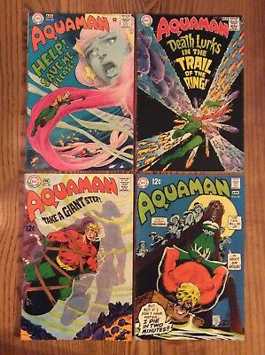 (Lot Of 4) Silver Age Aquaman #40/41/43/44 (Dc 1968/1969) Must See!!!