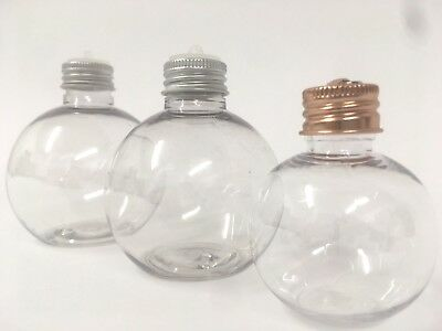 Various sizes Booze Christmas Baubles Gin alcohol Fillable 60 ML 150 ML 200 ML
