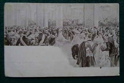 Antique Russian Postcard of a Gathering of Imperial Russian Royalty Romanov