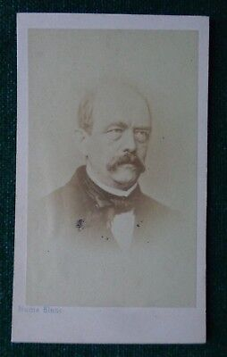 Antique Victorian CDV Photo Imperial German Politician Prince Bismarck Prussia