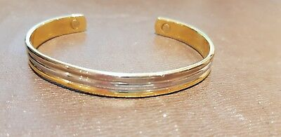An Elegant 24k Electro-Plated Magnetic Therapy Bracelet - Silver and Gold Colour