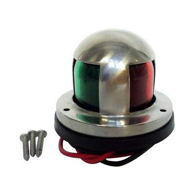 12V 5W Marine Boat Yacht Dual-color(Red+Green)Navigation Light Stainless C2W4