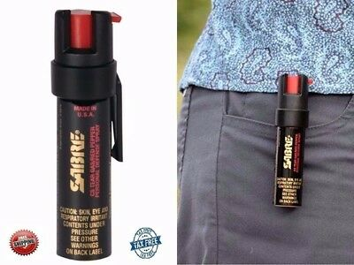 SABRE Peper Spray Advanced Police Strength Compact Size Clip Max Protect Pepper