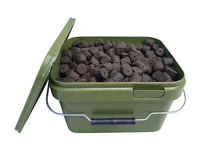 BLOOD & MEAT HALIBUT PELLETS 20mm 3,5Kg im 5L Eimer Heilbutt Pellet Futtereimer