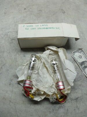 2 UV LAMPS FOR CARY SPECTROPHOTOMETER 1-No 2050 & 1 012542-NOS