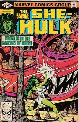 Marvel-Comic** THE SAVAGE / SHE-HULK Nr.5 ** englisch ** 1980 **