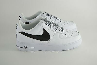 buy popular ddc7d 3ee6c Scarpe Nike Air Force One 1 Low 07 NBA White Black Sneaker Basket Shoes Uomo