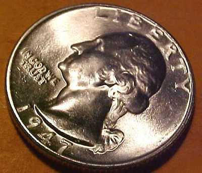 1947-D Washington Quarter  ~Gem Brilliant Uncirculated ~Satin Luster ☆Make Offer