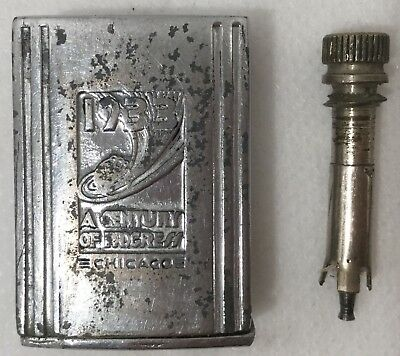 Vintage 1933 Century Of Progress Chicago World's Fair Match King Striker Lighter