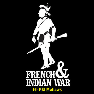 French and Indian War Vinyl Window Sticker (#16 F&I Mohawk)