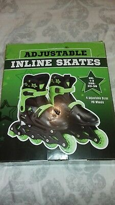 Adjustable Inline Skates-Boxed-Unwanted Gift-Size 1-3-Just £1.00