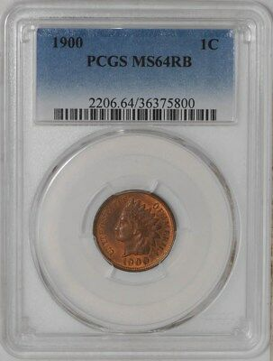 1900 Indian Head Cent 1c #939168-3 MS64 RB PCGS