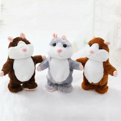 Talking Hamster Mouse Pet Plush Toy Cute Speak Sound Record for Kids Baby Gift