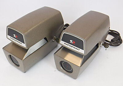 Lot of 2 RapidPrint AR-E Office Time Date Stamps w/Keys - TESTED & WORKING