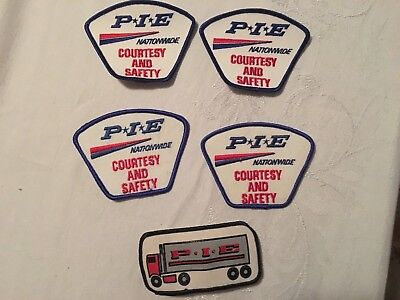 Lot of  PIE Trucking Nationwide Patch P I E Patches