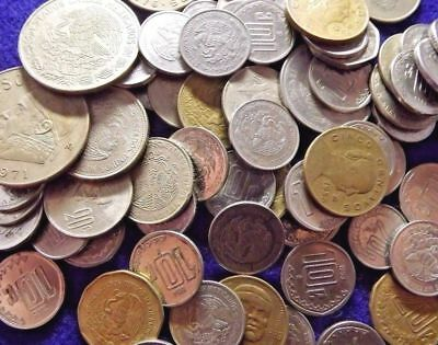 Estate Find Lot 5 pounds of coins with silver coins  mexico!=collection !