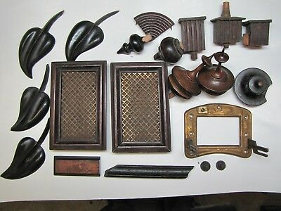 Various Clock Case Parts. Doors , Finials, etc..